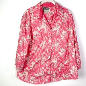 Columbia Top Button Down Blouse Cotton